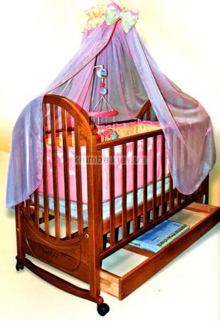 Детская кроватка Веселка Юлия (с ящиком)
