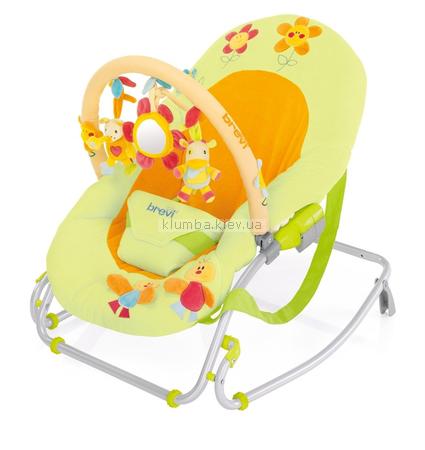 Детское кресло-качеля Brevi Swing'n'Sleep (Blu Sea и Green Farm)