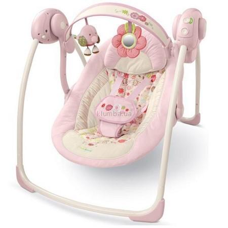 Детское кресло-качеля Bright Starts Comfort & Harmony  Portable Swing Vintage Garden (6931) (Комфорт и гармония)