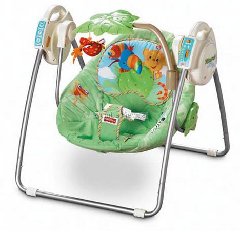 Детское кресло-качеля Fisher Price Тропический лес (Rainforest) (m6710)