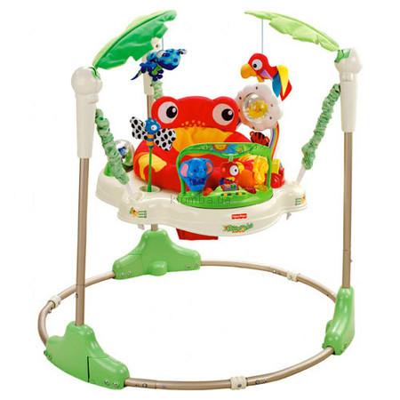 Детское кресло-качеля Fisher Price Кресло-прыгунки Джунгли (7198)