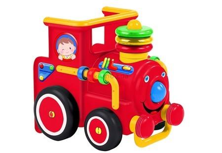 Детская машинка Big Паровоз со звуковыми и световыми эффектами