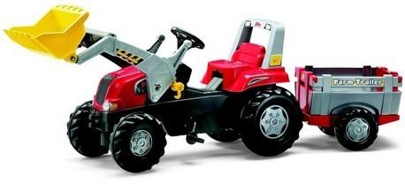 Детская машинка Rolly Toys Трактор  Junior RT с прицепом и ковшом