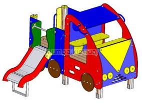 Детская площадка Inter Atletika Машинка с горкой