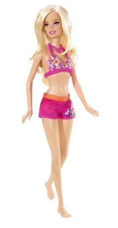 Детская игрушка Barbie Барби Пляжная (розовая)