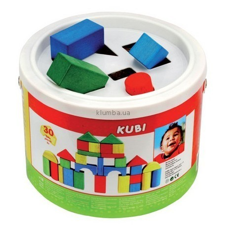 Детская игрушка Bino Кубики в ведре-сортере