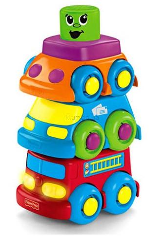 Детская игрушка Fisher Price Забавные кубики-блоки, Машинки