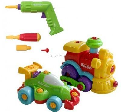 Детская игрушка Keenway Паровозик и Машинка Build and Play