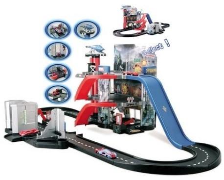 Детская игрушка Majorette Гараж Spider Man + 3 машинки