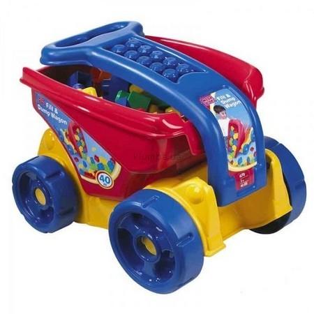 Детская игрушка MEGA Bloks Большая тележка с конструктором