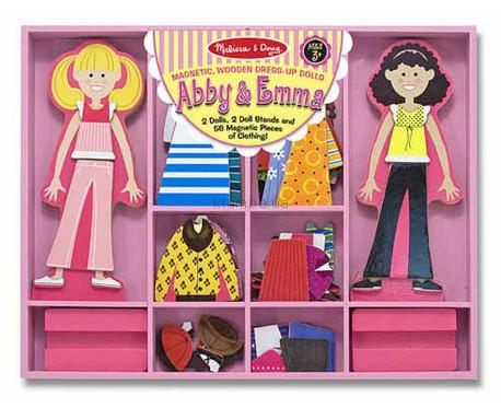 Детская игрушка Melissa&Doug Эбби и Эмма, Магнитная одевалка
