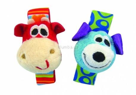 Детская игрушка Playgro Погремушки на ручку Собачка и Жираф