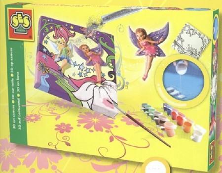 Детская игрушка Ses Набор для нанесения на ткань рисунков и 3D-фигурок