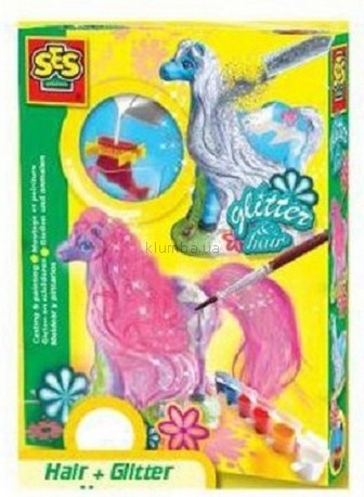 Детская игрушка Ses Набор для создания гипсовой фигурки Лошадка с гривой
