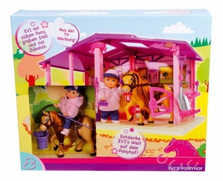 Детская игрушка Smoby Набор Ева на отдыхе на конной базе
