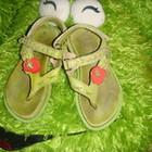 Кожаные сандалики через палец NO EL