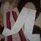 Вельветки и белые штанишки для модницы.