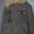 TigerForce L - 52 2 в 1 зимняя коричневая мужская куртка коричневый мужской пуховик ветровка