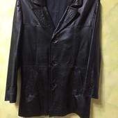 Кожаный френч - куртка