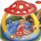 Бассейн детский с навесом грибок Intex 57407 (надувное дно) 102*89 см