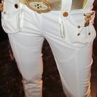 брюки Gizia c золотистым кожаным поясом, 36 р.