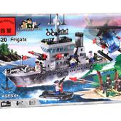 Конструктор 820 Фрегат, Brick, 614 деталей. Брик. корабль
