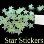 Наклейки звёзды и снежинки в детской комнате.Флуоресцентные! Запорожье!