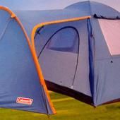 Туристическая палатка 4-х четырехместная Coleman 1009, колеман четырехместная