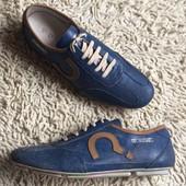 кроссовки кожаные мужские голубые Energie Последние 41 р