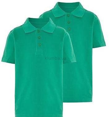 Зелёные футболки-поло в школу george англия фото №1
