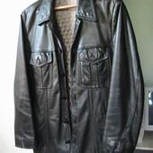 кожаный пиджак теплый С Нью-Йорк
