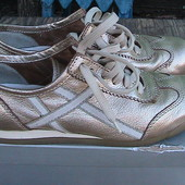 туфли кожаные 38р Geox кроссовки золотые