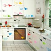 наклейки на стену на холодильник окно плитку в ванную выключатель