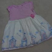 Модное платьице TU на девочку 6-9 месяцев