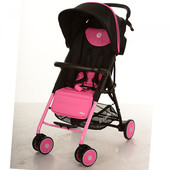 New! Прогулочная коляска-трость Bambi Pilot M 3294-8, розовый