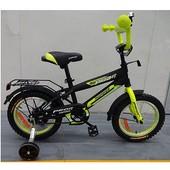 Двухколесный велосипед Profi Inspirer Салатовый 16'' (G1651) с багажником