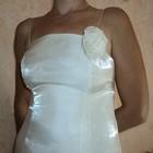 Платье и накидка из лебединого пуха на 40-й размер