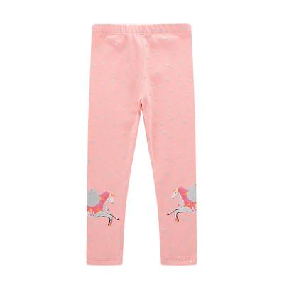 Леггинсы для девочки, розовые. пегасы. фото №1