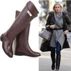 модные женские осенние и зимние кожаные сапоги и ботинки Hermes в НАЛИЧИИ
