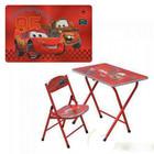 Столик парта и стульчик - раскладной детский Тачки