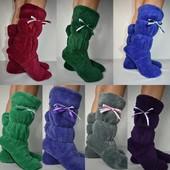 Домашние махровые теплые сапожки тапочки ТМ Selim-tekstil только сегодня 190грн