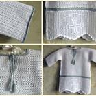 Крестильная рубашка крючком