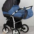 Детская универсальнавя коляска 2 в 1 Aneco Venezia цвет: 2, синий с серым. Польша