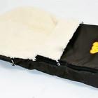 Конверт на овчине в коляску, авто-кресло, санки  конверт переноска, теплый