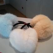 Меховые наушники кролик