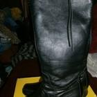 черные кожаные сапоги на удобной платформе 41 р от Next