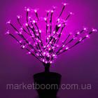 Светодиодное дерево с вазоном БОНСАЙ ЦВЕТУЩИЙ 60 см(бело-розовый,розовый)