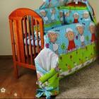 Детское постельное белье в кроватку из 7 эл. (без балдахина). Польша