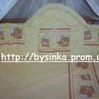 Высокая, сплошная защита и комплект постельного белья в кроватку новорожденного