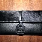 Кожаный кошелек с натуральным ворсом пони.